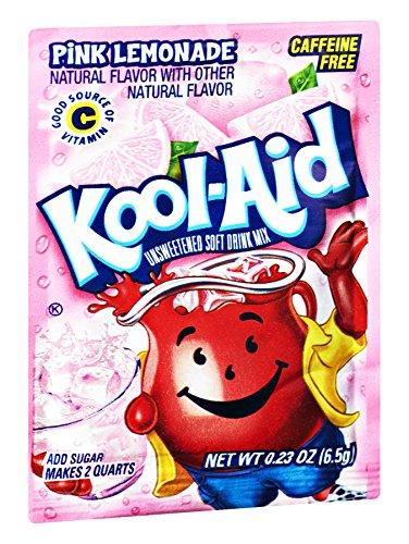 Kool-Aid Pink Lemonade Caffeine Free Unsweetened Soft Drink Mix, 0.23 OZ (Pack of 192) by Kool-Aid