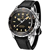 Pagani Design Original Men's Watch Seamaster, Stainless Steel Bracelet with Screw Down Crown and Water Resistant to 100M…