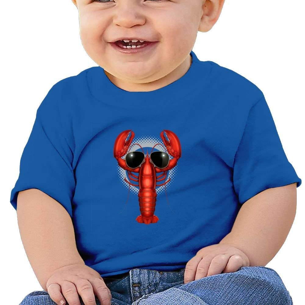 DAISYBARKER Cool Lobster Washed Cotton Baby Boy Shirt Cute Summer T Shirt Funny