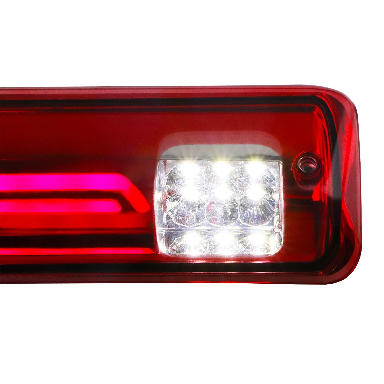 Meerkatt 3//4 Inch Round Clear Lens Red Sealed Mini Side Marker Lights Multi-Function Brake Stop Tail 3 Diodes with Rubber for Truck Bus Trailer Van Pickup RV ATV Universal 12V DC 3led-HL Pack of 50