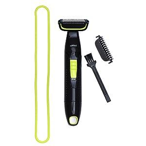 Hoffen Showerproof Cordless Body Groomer for Men (Black)