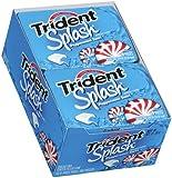 Trident Splash Sugar Free Gum (Peppermint Swirl, 9 Piece, 10 Pack)