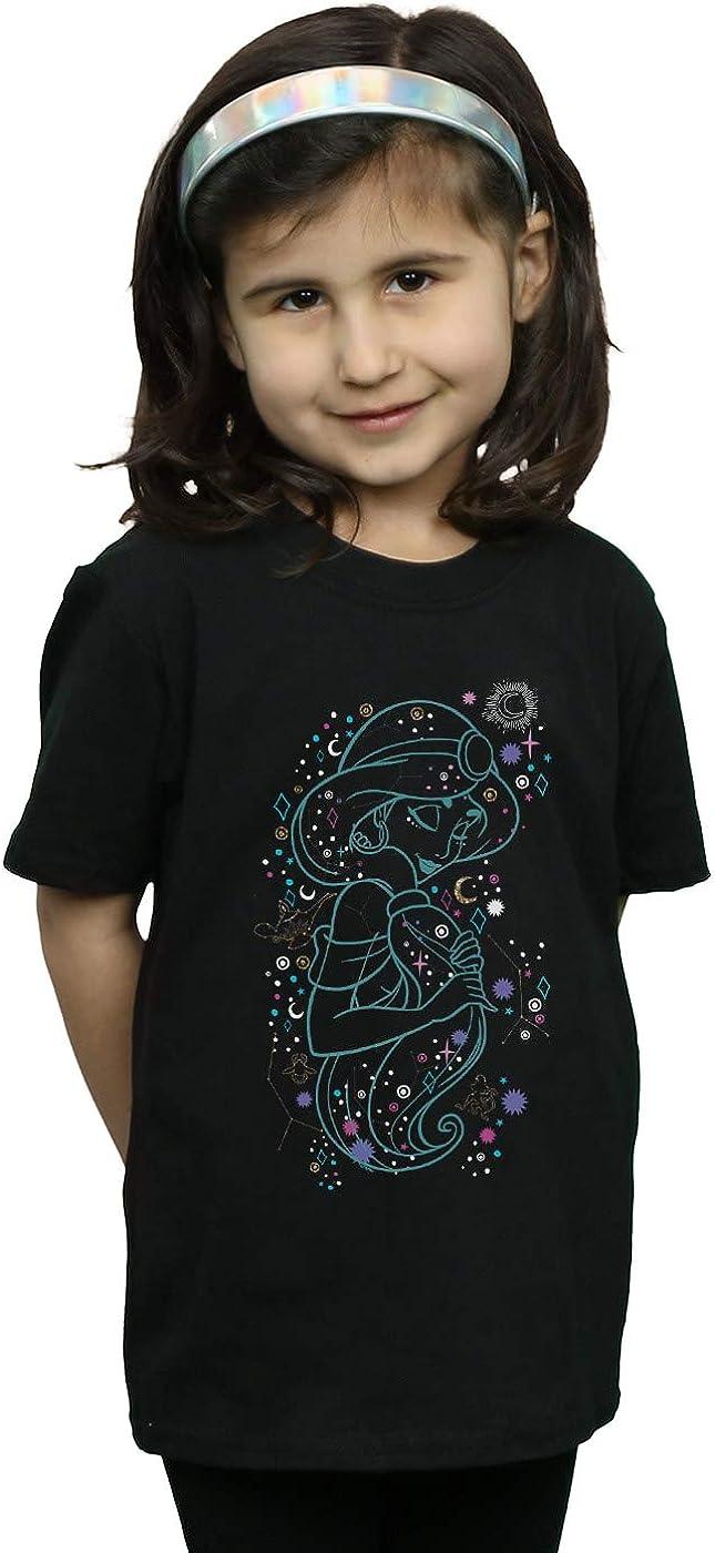 Disney Ni/ñas Aladdin Princess Jasmine Written In The Stars Camiseta