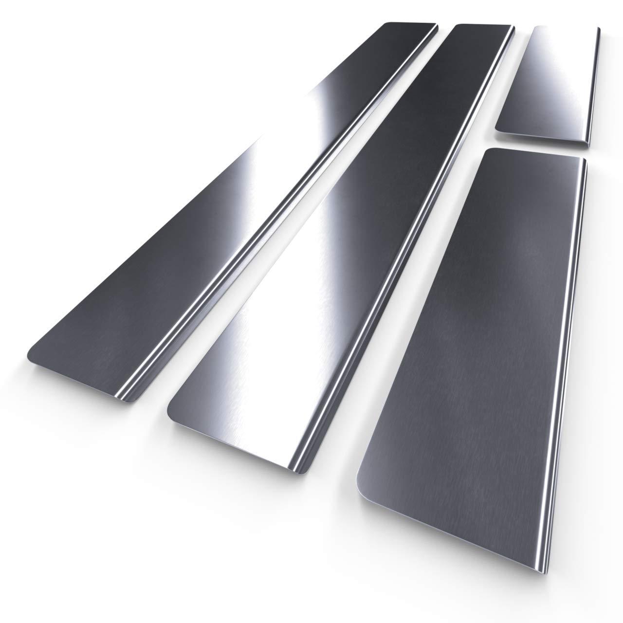Protectores de acero para umbral de coche - plata - mate - kit de 4 piezas - 5902538700535: Amazon.es: Coche y moto