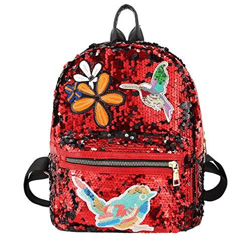 04bd47152497 Candice Women Shiny Sequins PU Leather Shoulder Bag Satchel Backpack ...