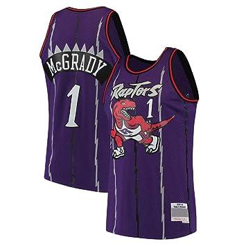 AMJUNM Hombre Mujer Ropa de Baloncesto Toronto Raptors 1# McGrady ...