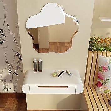 Amazon.de: Duo Computer Tisch Schminktisch mit Spiegel Schlafzimmer ...