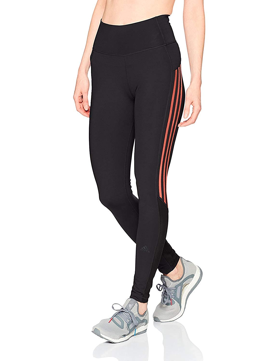 9c93bff6603e9 Amazon.com: adidas Women's Training Believe This High-Rise 3-Stripe 7/8  Tights: Clothing