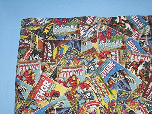 Marvel Retro Comic algodón cortina de ventana cenefa