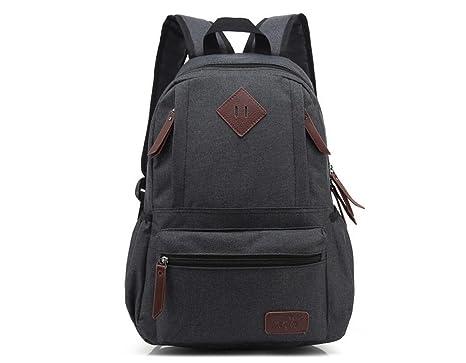 xibeitrade lienzo mochila de viaje mochila escolar bolsa ordenador portátil mochila negro