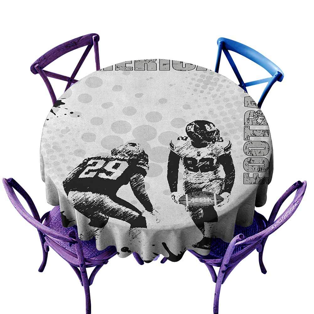 familytaste Sports,tablecovers for Sale D 70'' Grungy American Football Image International Team World Cup Kick Play Speed Victory Round tablecloths