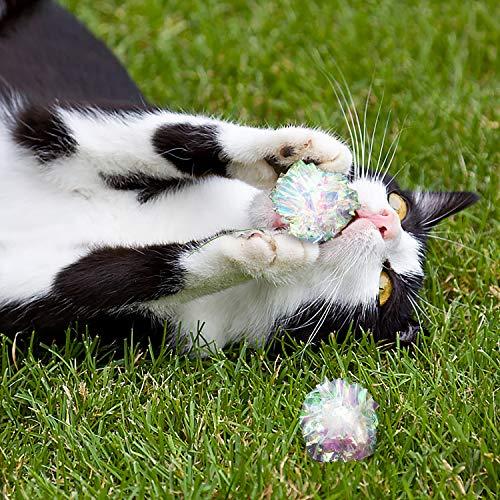 Yangbaga Dye Free Crinkle Cat Toys Balls, 2x1.4x1.2in Lightweight, 20 PCS 7