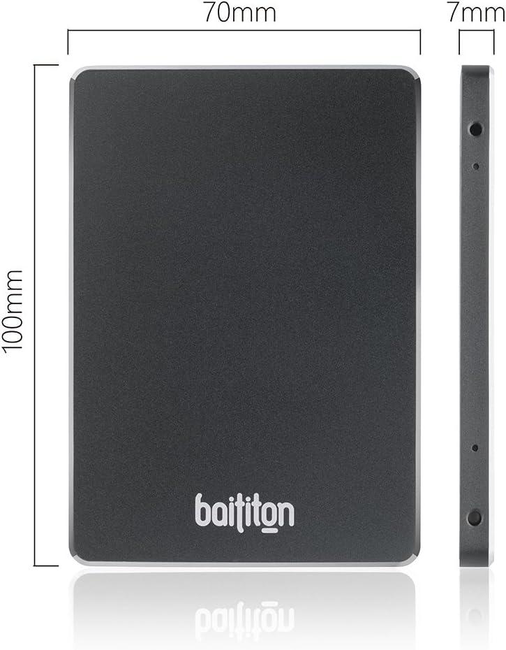 BAITITON 2,5 Pouces SATA III Disque Flash SSD 128 Go Interne Solid State Drive Lecture 550Mo//s Ecriture 530Mo//s 128GB