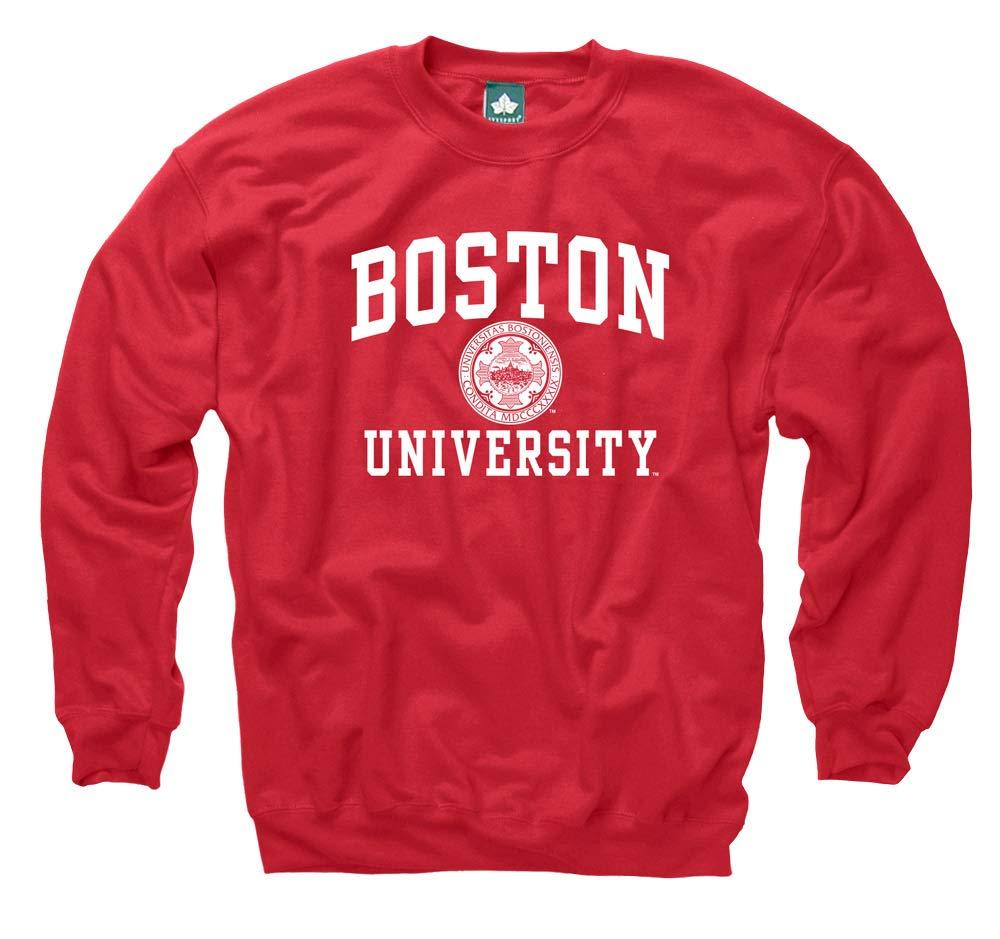 Boston University - Red X-Large Ivysport Crewneck color Sweatshirt, Legacy Logo, NCAA Colleges and Universities