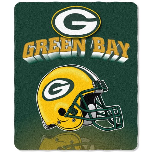 Green Bay Packers Nfl Bedding - NFL Green Bay Packers Gridiron Fleece Throw, 50-inches x 60-inches