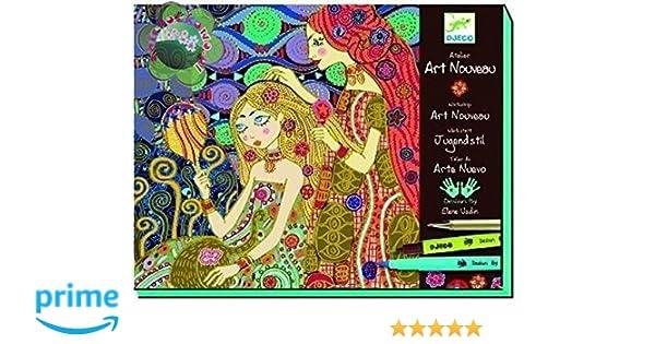 Djeco DJ08607 - Set para Pintar Cuadros de Art Nouveau - Taller ...