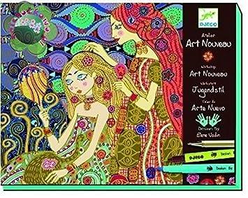 Djeco Dj08607 Set Para Pintar Cuadros De Art Nouveau Taller Art Nouveau