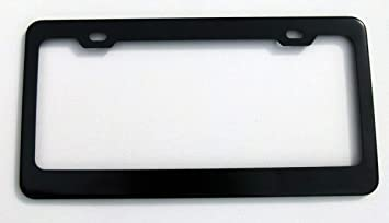 Plain BLACK Metal Blank Car License Plate Frame