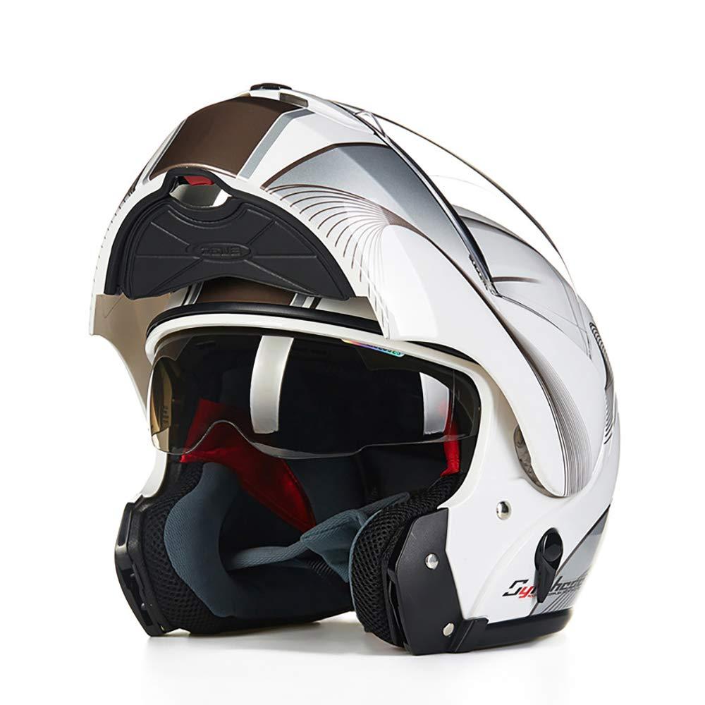 多機能ヘルメット、ライオンヘルメットフェイスヘルメット多機能ヘルメットオートバイヘルメットフルフェイスヘルメットサイクリングヘルメットスキーヘルメットメンズサイクリングキャップ,A A