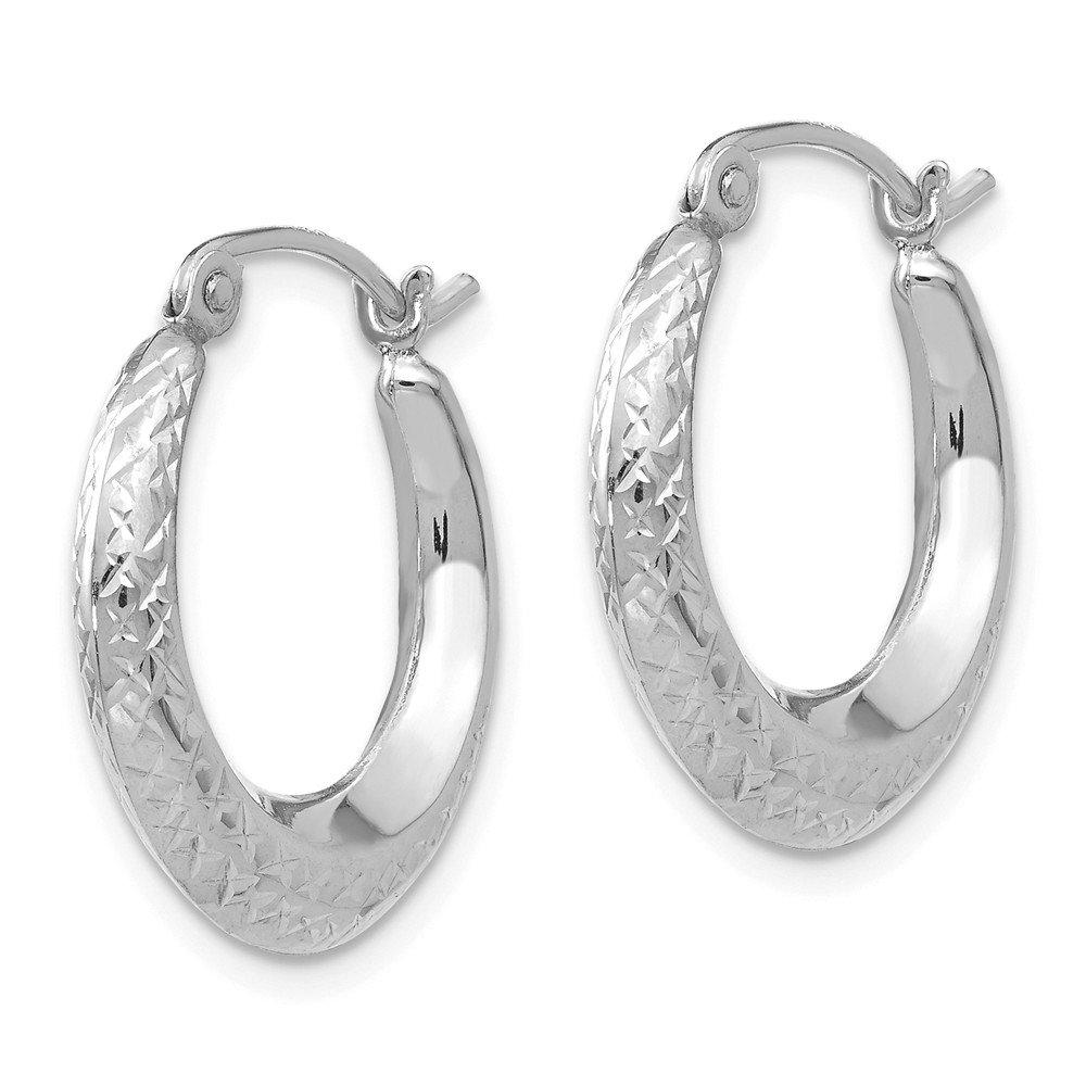 14K Gold Madi K Childrens 18 MM Textured Hollow Hoop Earrings