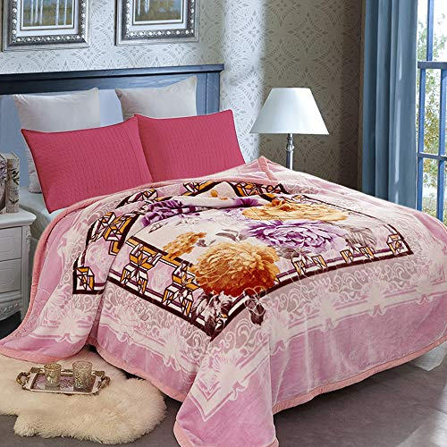 JML Heavy Blanket Queen, Korean Fleece Blanket - Plush Soft