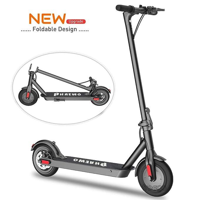 Freego Scooter eléctrico de 8.5 Pulgadas, Scooter de Transporte Ligero y Plegable para Adultos y Adolescentes, 250 W de Potencia, Velocidad máxima de 25 km/h, neumáticos no neumáticos