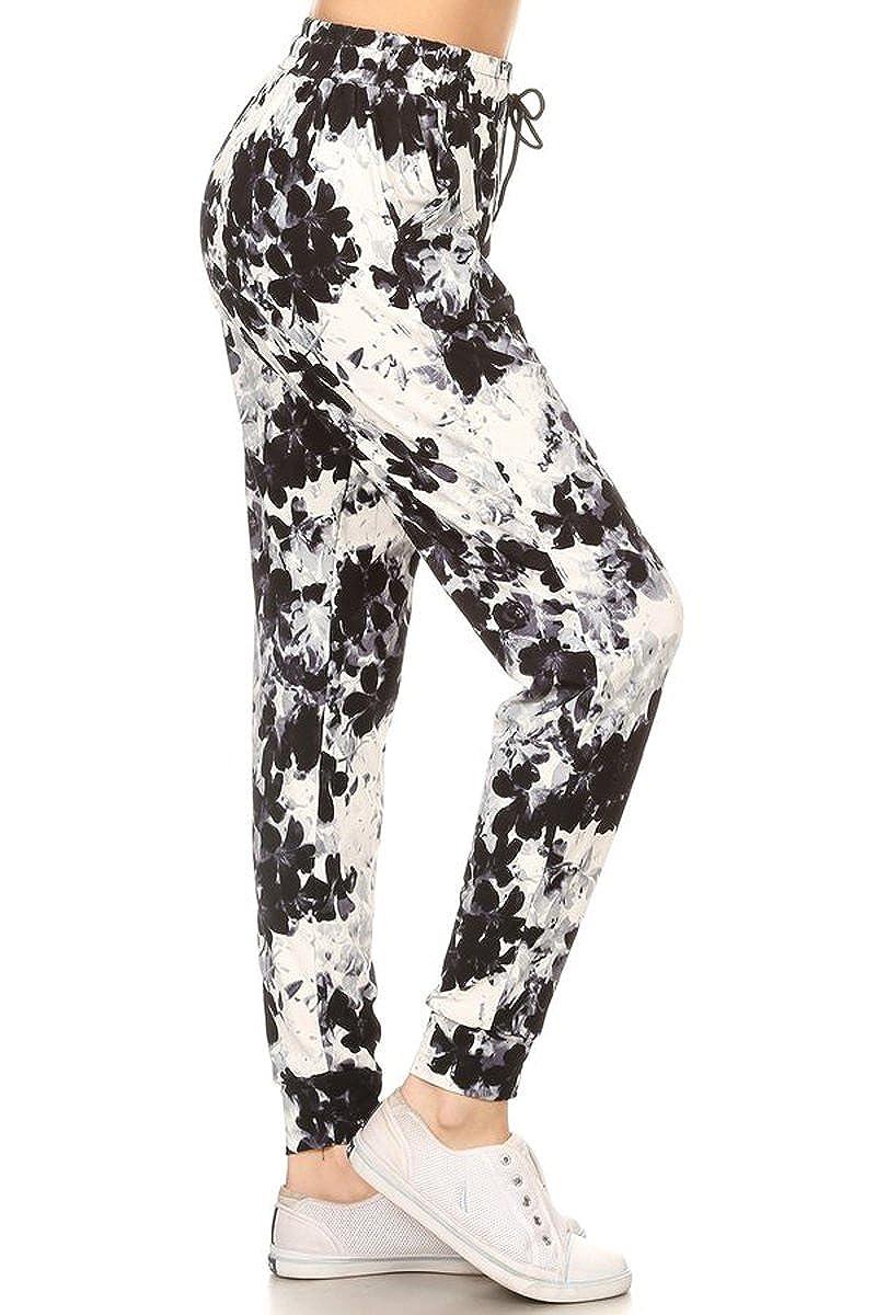 3a155241c85f0f Leggings Depot Premium Jogger Women's Popular Print High Waist Track Pants(S-XL)  at Amazon Women's Clothing store:
