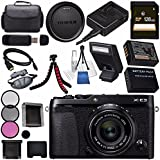 Fujifilm X-E3 XE3 Mirrorless Digital Camera with 23mm f/2 Lens (Black) 16559053 + NP-W126 Lithium Ion Battery + 43mm 3 Piece Filter Kit + 128GB SDXC Card + Carrying Case + Micro HDMI Cable Bundle