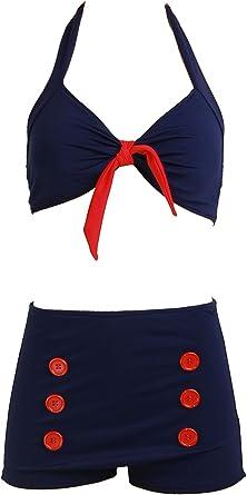# Dancing Days Wilderness Sailor vintage Mermaid Costume da Bagno Swimsuit Rockabilly