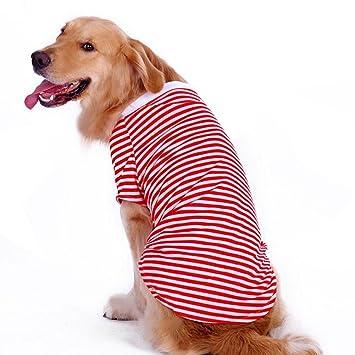 Amazoncom Petroom Dog Striped T Shirt For Medium Large Dogs Dog