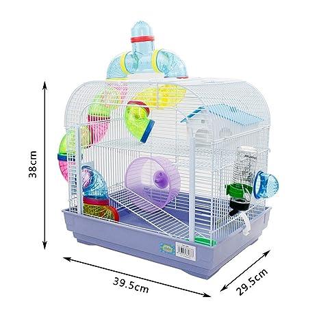 DZL® jaula para hamster(29.5X29.5X38CM) color azul,purpura y rojo ...