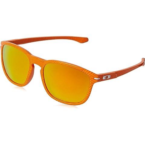 9513613aba79b Oakley Men s Enduro Atomic Orange Fingerprint Fire Iridium Sunglasses One  Size