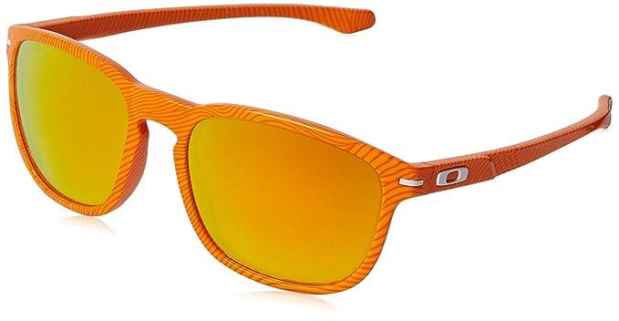 0223993f726 Oakley Men s Enduro Atomic Orange Fingerprint Fire Iridium Sunglasses One  Size