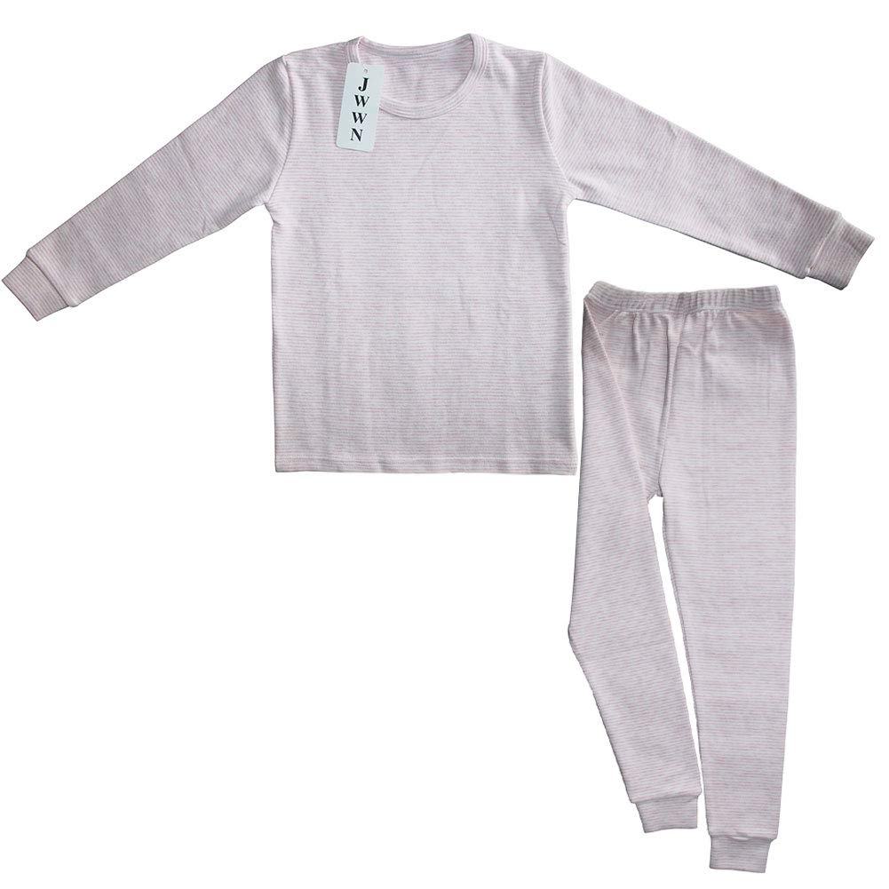Little Boys Girls PJs Toddler Cotton Sung Fit Jammies Striped Pyjama Set Long Sleeve Pull Over Tops Pants 2PC Set