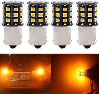 JAVR - Pack of 4-1157 BAY15D 2057 2357 7528 Super Bright White 12-24V DC 2835 33SMD LED Bulbs for Back Up Reverse Lights,Brake Lights,Tail Lights,Interior RV Camper lighting
