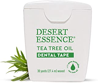 product image for Desert Essence Tea Tree Oil Dental Tape - 30 Yards - Pack of 6 - Naturally Waxed w/ Beeswax - Thick Flossing No Shred Tape - On The Go - Removes Food Debris Buildup - Cruelty-Free Antiseptic