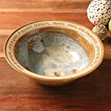 ART & ARTIFACT Love Is Patient Artist-Made Stoneware Wedding Bowl