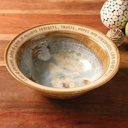Thrown Stoneware Bowl (ART & ARTIFACT Love Is Patient Artist-Made Stoneware Wedding Bowl)