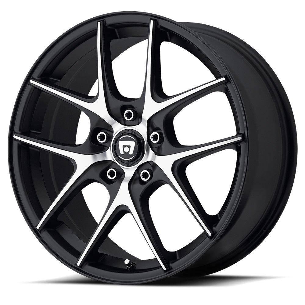 Motegi Racing MR128 Satin Black Wheel With Machined Flanged (17x7.5''/5x120mm, +45mm offset) by Motegi Racing (Image #1)