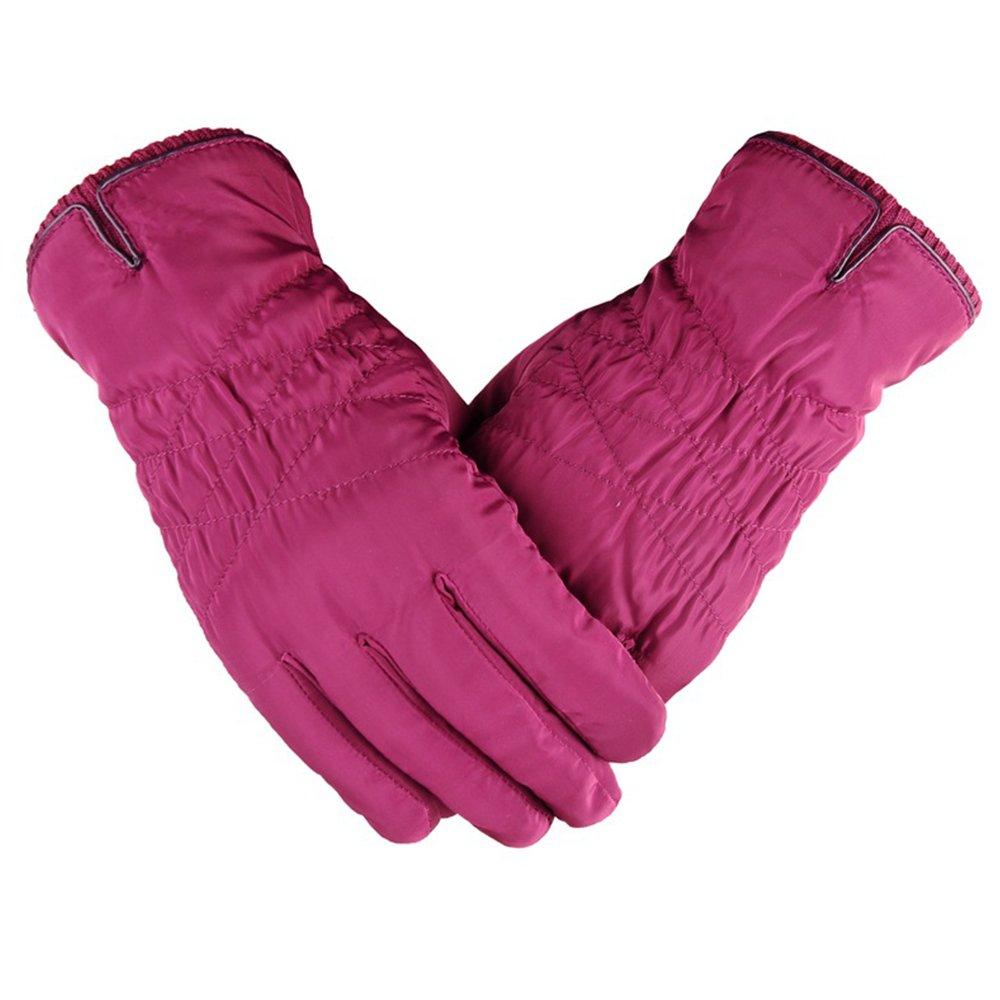 dulee mujeres de invierno forro polar térmica guantes de esquí teléfono inteligente pantalla táctil para snowboard de moto Ciclismo Patinaje Deportes Al Aire Libre, Fuscia