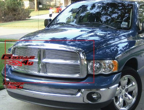 Billet Dodge 05 Ram Grille - APS Fits 2002-2005 Dodge Ram Main Upper Billet Grille Insert #D85374A