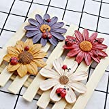 perfume fridge - YGMONER Set of 4 Three-dimensional Flower Design Colorful Magnet Sticker For Car Refrigerator Garden Fence Door Wall