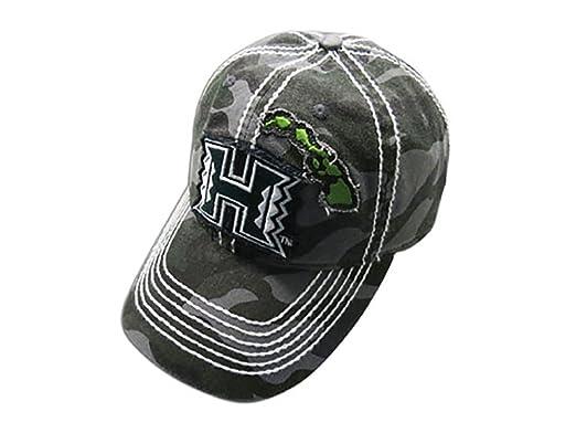 e61ee5ad072 KC Hawaii University Hawaii Warriors Camo Baseball Hat Cap at Amazon ...