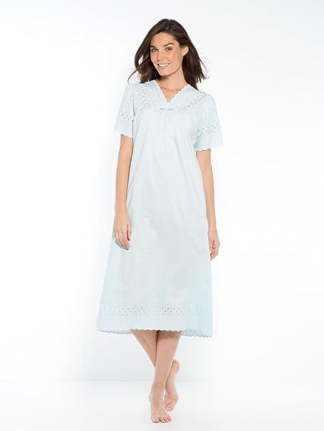 on sale f121a f86ff Camicia in vero pizzo sangallo blu: Amazon.it: Abbigliamento