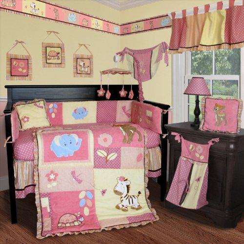 SISI Baby Bedding - Jungle Animal 14 PCS Crib Bedding Inc...