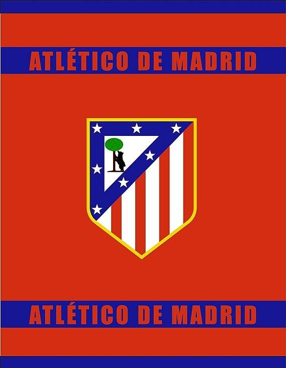 Atlético de Madrid Manta Coral de 170x130cm. - Tejido de Calidad - Producto con Licencia Oficial