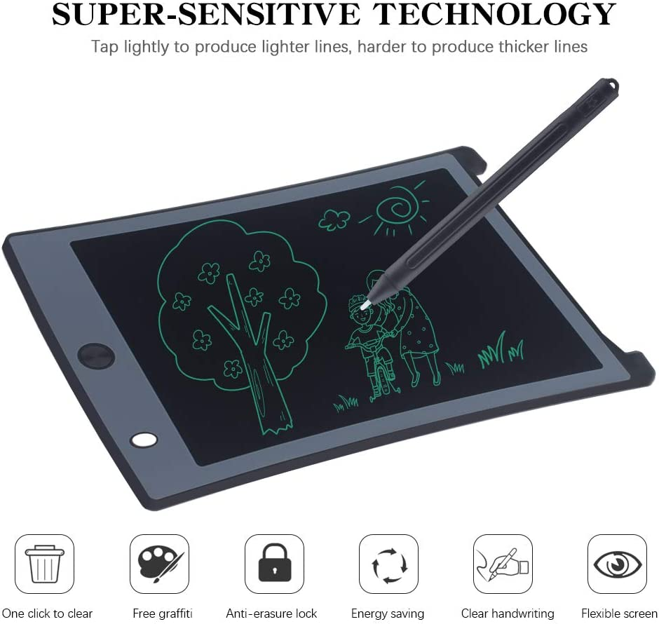 Educational and Learning Toys for Girls Boys Toddler Gifts 8.5 Inch Kids Drawing Writing Boards Pink LCD Writing Tablet Electronic Doodle Board