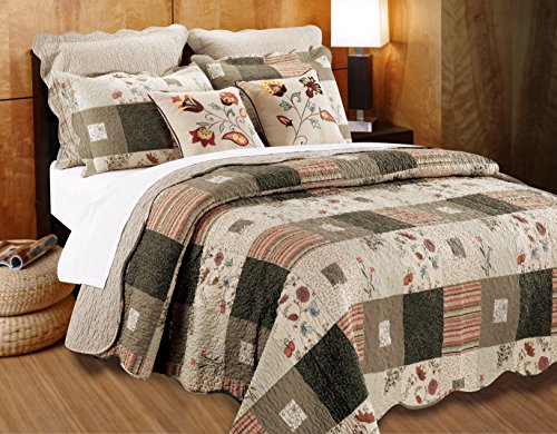 Greenland Home GL-1010GBSK 5 Piece Sedona Bonus Quilt Set, King