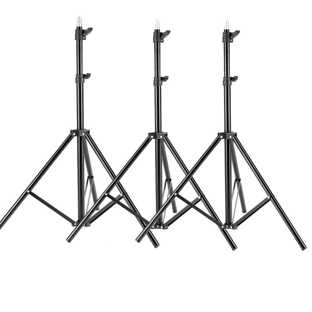 Neewer 3 Pieces 6ft/75 inch/190cm Photography Tripod Light Stands for Studio Kits,Video, Lights, Softboxes, Reflectors, etc. by Neewer