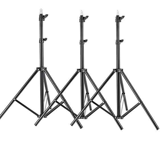 Neewer 3 Pieces 6ft/75 inch/190cm Photography Tripod Light Stands for Studio Kits,Video, Lights, Softboxes, Reflectors, etc. <span at amazon